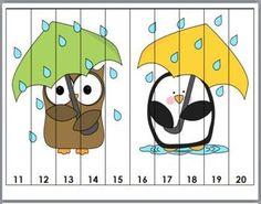 Sayıları Puzzle Yaparak öğrenelim - Okul Öncesi Etkinlik Faaliyetleri - Madamteacher.com