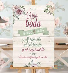 Cartel una boda se vive tres veces                                                                                                                                                                                 Más