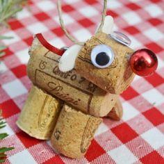 wine cork reindeer, super cute!