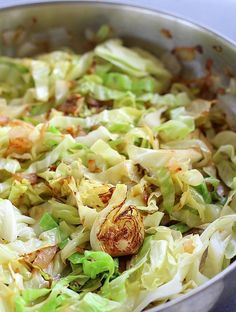 Sautéed Cabbage - Cooking the cabbage this way results in crispy, tender caramelized cabbage just right for any meal.