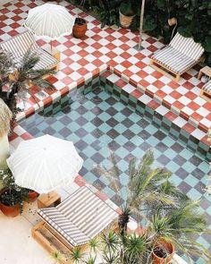Pergola Designs, Pool Designs, Patio Design, Exterior Design, House Design, Outdoor Spaces, Outdoor Living, Outdoor Decor, Picnic Blanket
