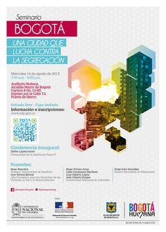 Poster. Seminario de Contra la Segregación. Secretaría de Planeación
