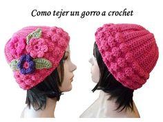 ESPAÑOL TUTORIAL Como tejer gorro en crochet para mujer o jovencitas - YouTube