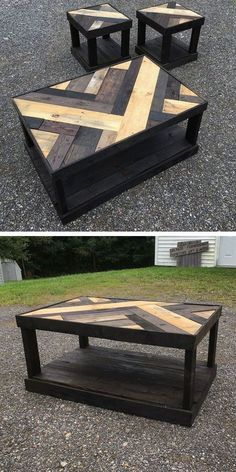 Best Wooden Pallet Furniture Projects Ideas And Tutorials – Sensod – Create. wooden pallet table with small stool palpable Do It Yourself Custom-made Wood Pallet Furniture Suggestions · recycled pallet coffee table. Do It Yourself Wood Pallet Coffee Wooden Pallet Table, Wooden Pallet Furniture, Wooden Pallets, Wooden Diy, Furniture Ideas, Pallet Wood, Garden Furniture, Pallet Bench, Outdoor Pallet