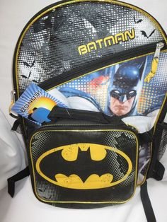 b147ad263074 Batman Backpack and lunch bag kit and batman tumbler cup Set of 3