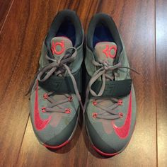 Nike KD's w/ special sole insert Super cute basketball shoes, worn only once or twice, only a small grass stain on the right shoe that I only noticed by taking a picture. Size Women 8, Kids 6Y. No trades. Nike Shoes Athletic Shoes