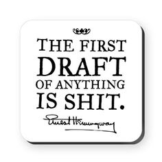 When I first started writing I could not undestand why famous writers would be all grumbly that their first draft was shit. Of course it's shit, Even Moses who wrote the old testament had to throw away the first draft. Dissertation Motivation, Writing Motivation, Dissertation Writing, Writing Advice, Writing A Book, Writing Prompts, Academic Writing, Article Writing, Writing Ideas