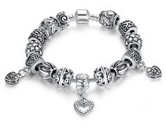 Sterling Silver 7 4.5mm Charm Bracelet With Attached 3D Shitzu Pet Dog Breed Charm