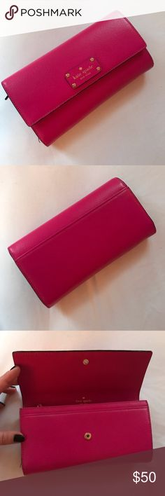 Kate Spade Wallet Gorgeous pink wallet, inside coin pocket, front and back spaces for cards and bills. kate spade Bags Wallets