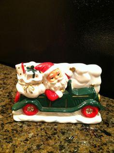 Vintage Santa  Christmas Planter