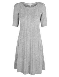 Per Una Fit & Flare Knitted Dress £49.50