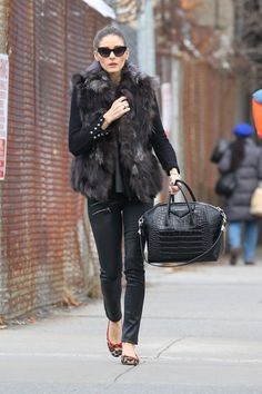 My daughter Milla just picked out a faux fur vest like this for xmas. Such a cool look, i want one too.