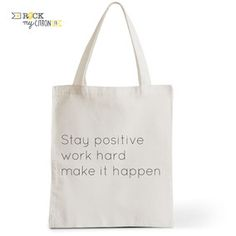 Tote Bag Rock my Citron,  Positive, Cadeaux Fêtes, Anniversaires, Naissances