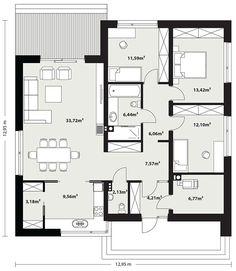 Dream House Plans, Modern House Plans, Small House Plans, My Dream Home, Beautiful House Plans, Beautiful Homes, Sims House, Small House Design, Facade House