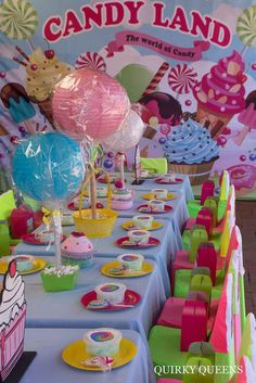 Candyland birthday party table! See more party planning ideas at CatchMyParty.com!