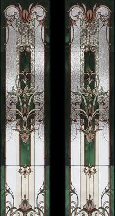 Stained Glass Door, Leaded Glass Windows, Stained Glass Designs, Stained Glass Panels, Art Nouveau, Beveled Glass, Mosaic Glass, House, Future