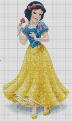 Snow White: The 1st princess of Disney Princess franchise. The other charts in Disney Princess line: Cinderella Aurora Ariel Belle Jasmine Pocahontas Mulan Tiana Rapunzel Mérida I do this as a supp...