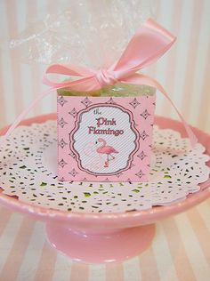 """Pink Flamingo"" Party Theme  Lots of great printables including Homemade Party Favor Candy Box"