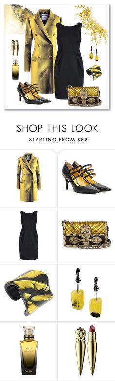 """Bottega Veneta Accessories Look"" by romaboots-1 ❤ liked on Polyvore featuring Moschino, Bottega Veneta, Ines de la Fressange, Pellini, Cartier and Christian Louboutin"