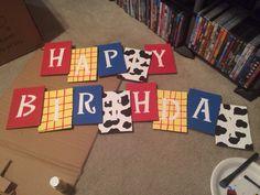 Toy story Western birthday banner