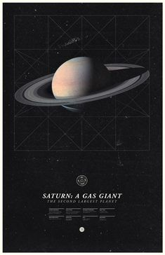 saturn, my ruling planet. from the 'under the milky way' poster series by ross berens
