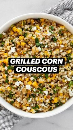 Grilling Recipes, Cooking Recipes, Healthy Eating, Healthy Foods, Couscous, Summer Recipes, Love Food, Feta, Side Dishes