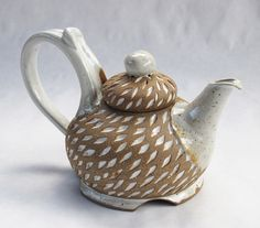 Thrown Teapot    ::    White Orzo