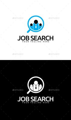 Job Search Logo — Vector EPS #job #magnifying glass