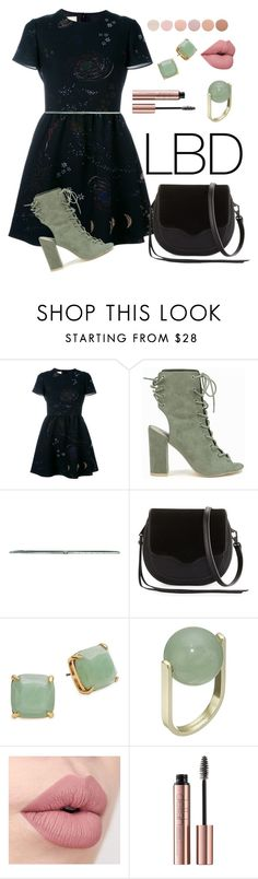 """Mint Black"" by narchilla ❤ liked on Polyvore featuring Valentino, Nly Shoes, Dries Van Noten, Rebecca Minkoff, Kate Spade, French Connection and Deborah Lippmann"