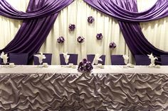 Wishahmon - Wedding Creations:   Head table backdrop and decor