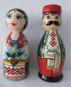 "Ukrainian Matryoshka Nesting Doll ""A Couple KAZAK and Kazachka"" | eBay"