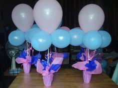 Cheap DIY balloon centerpieces...