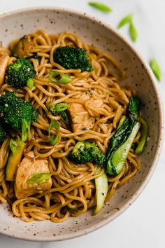 This chicken and ramen stir fry is an easy dish made with chicken, vegetables, gluten-free ramen, and a simple sauce. It's gluten and soy-free and can be made paleo and AIP-friendly.