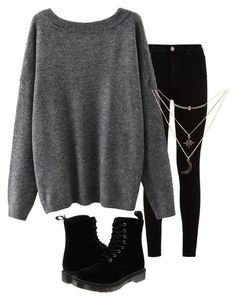 """""""Eh"""" by kiki0122 ❤ liked on Polyvore featuring 7 For All Mankind, Dr. Martens, Charlotte Russe, women's clothing, women, female, woman, misses and juniors"""