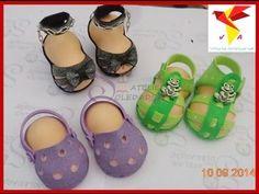 Zapatitos De Bebe En Foami Goma eva Baby Shower Modes Patrones Artfoamicol manualidades avi - YouTube