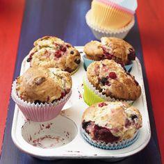 Waldfrucht-Weiße-Schoko-Muffins
