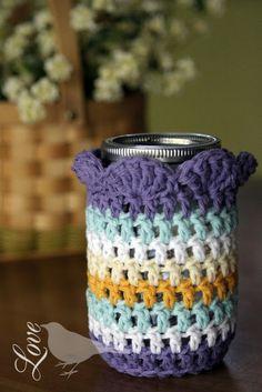 Sweet Jar Cozy: free tutorial