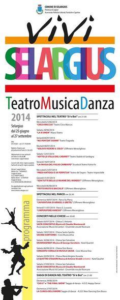 VIVISELARGIUS: TEATRO,MUSICA E DANZA – 25 GIUGNO-27 SETTEMBRE 2014