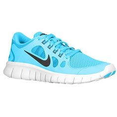 Nike Free 5.0 - Boys' Grade School - Vivid Blue/Green Abyss/Black