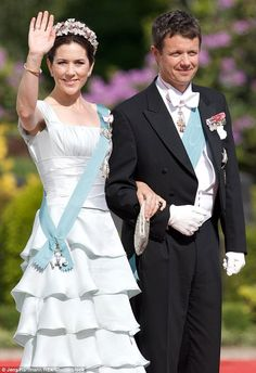 In her early years in Denmark, Princess Mary (pictured here in 2008 at the wedding ofPrince Joachim) often opted for light colours at royal events