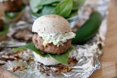 Jalapeno Popper Turkey Burger Sliders + VIDEO - Tried and Tasty Turkey Burger Sliders, Burger Dogs, Good Burger, Queso Cheese, Grilled Turkey, Tasty, Yummy Food, Man Food, Jalapeno Poppers