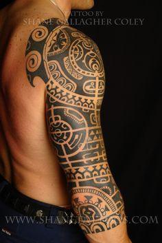 "polynesian tattoos | Dwayne ""The Rock"" Johnson Inspired Tattoo on Yves. (still in progress)"