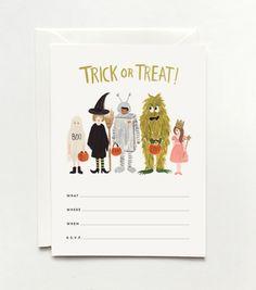 Rifle Paper Co.     Halloween Lineup Invitations