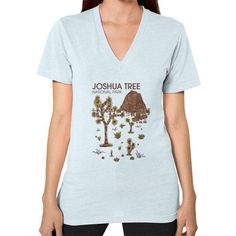Joshua Tree National Park V-Neck (on woman)