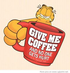 Even Garfield loves coffee