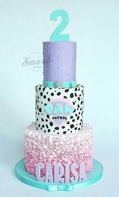 Girly paw patrol Torta Paw Patrol, Paw Patrol Cupcakes, Paw Patrol Birthday Cake, Paw Patrol Party, Birthday Cake Girls, 2nd Birthday, Birthday Ideas, Adele Birthday, Cumple Paw Patrol
