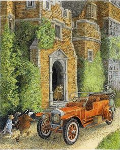 Inga Moore illustration for 'The Wind in the Willows' by Kenneth Grahame Children's Book Illustration, Book Illustrations, Brambly Hedge, River Bank, Kids Story Books, Woodland Creatures, Children's Literature, Whimsical Art, Illustrators