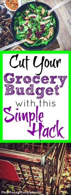 Tired of spending hundreds upon hundreds each month just on groceries? Check out this amazing grocery hack that'll save you money AND time! Groceries | Save Money On Groceries | Grocery Budget | Budgeting | Cut Back On Groceries via @MadMoneyMonster
