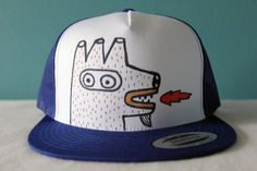 Fire mouthed creature original hand drawn adult mens by BONBIN