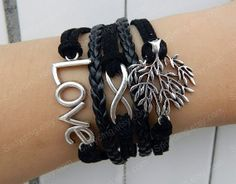 jewelry infinite bracelet  Ancient silver love 8 tree by Colorbody, $10.29